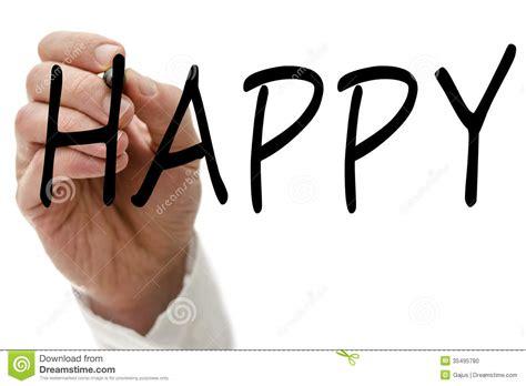 Happy Writing happy stock photo image of content positive