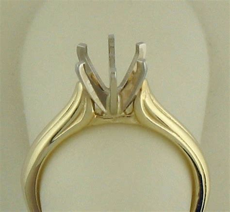 solitaire ring setting for 9mmx7mm oval 14k white