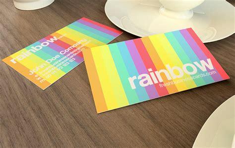 Rainbow Business Card Template rainbow business card template unique business cards