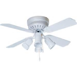 42 quot hugger mount ceiling fan white bullet light kit hd