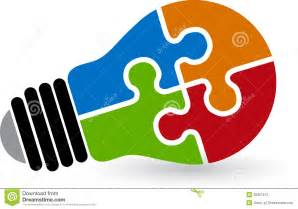 Autism Light It Up Blue Lamp Puzzle Logo Stock Photography Image 30957812