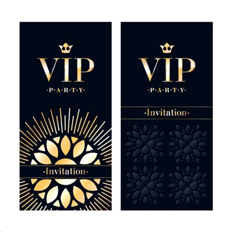 Vip Invitation Card Template by Luxury Vip Invitation Cards Template Vector 04 Vector