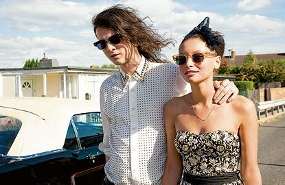 Models and rockers: Jethro Cave and Leah Weller