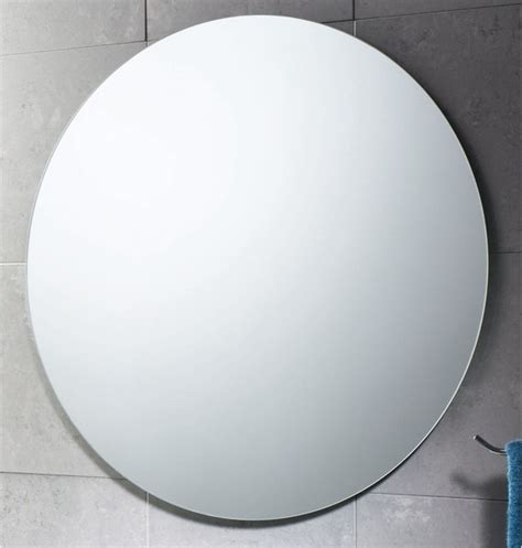 bathroom mirrors round 26 inch round polished edge mirror contemporary