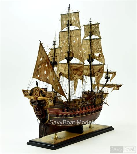 Jolly Roger Pirate Ship Model