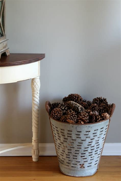 pinecones for winter home decor house of hawthornes