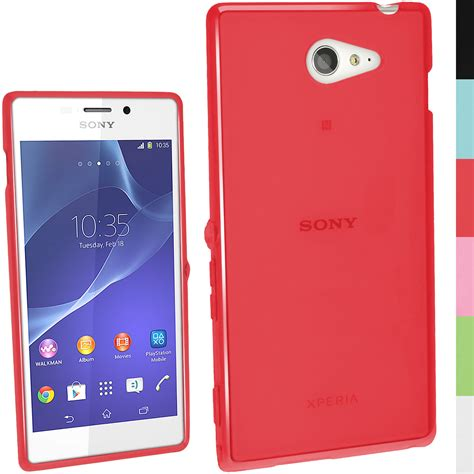 Softcase Ultratin Sony M2 M2 Aqua Softcase Transpar Limited glossy tpu gel skin cover for sony xperia m2 d2303 2305 2306 screen prot ebay