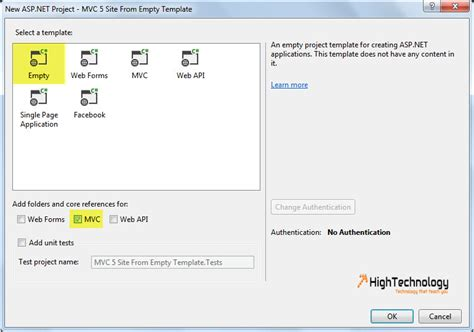 templates for asp net mvc 5 how to create new asp net mvc 5 site from empty template