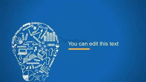 innovative themes for ppt creative blue background slide design with light bulb