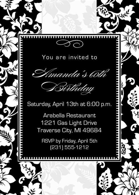 printable black and white bridal shower invitations black and white invitation printable for birthday baby