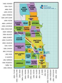 Chicago Crime Map By Neighborhood by Chicago Neighborhood Guide Chicago Neighborhoods On A