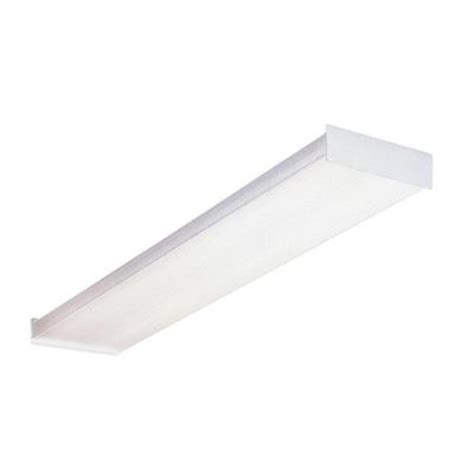 Lithonia Lighting 4 Ft Wraparound Fluorescent Ceiling 48 Fluorescent Light Fixture Home Depot