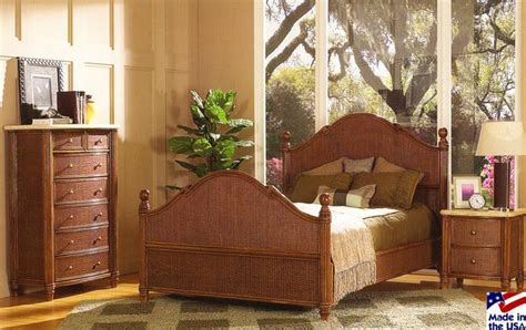 bamboo bedroom set the 19 best images about rattan and wicker complete beds