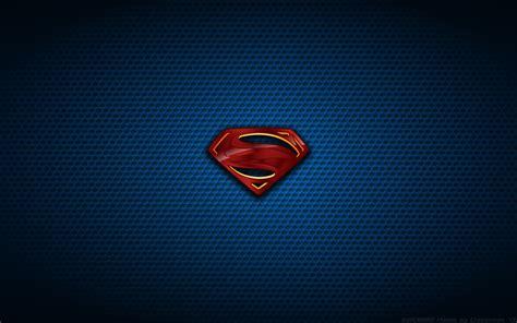 Sprei Superman Steel wallpaper of steel poster logo by