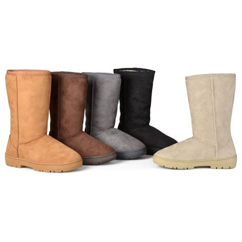lug boots journee collection boots faux suede lug sole boot