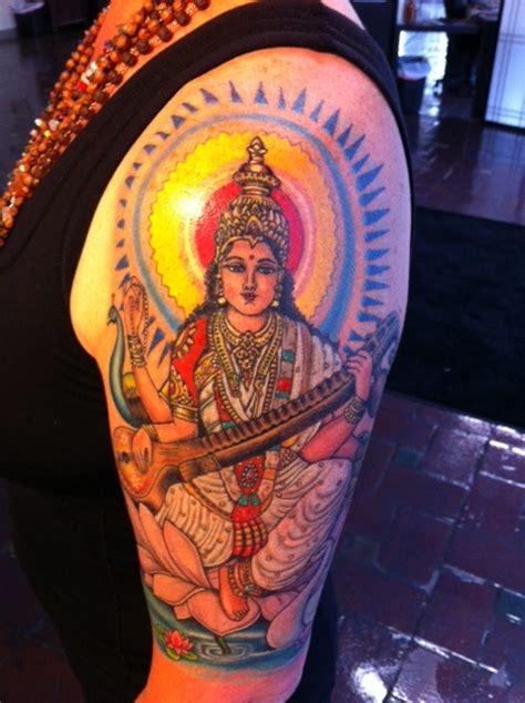 saraswati tattoo designs my s hindu goddess saraswati tattoos