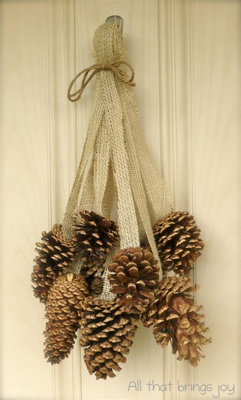 pine cone home decor it looks much better and breaks up the other three circles