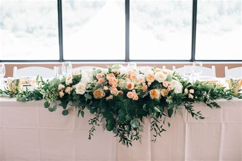 Calgary Wedding Flowers  5 foot long head table
