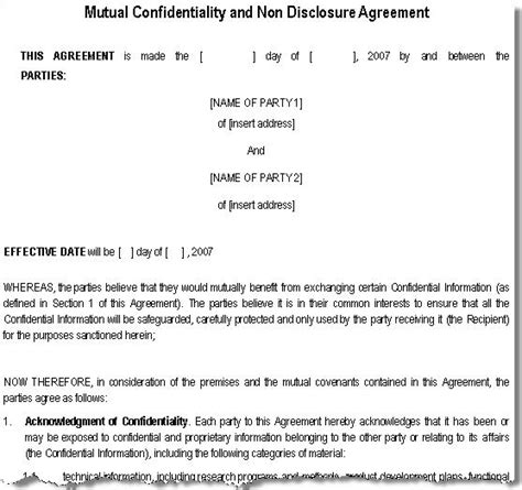 statement of confidentiality template optimus 5 search image sle confidentiality statements