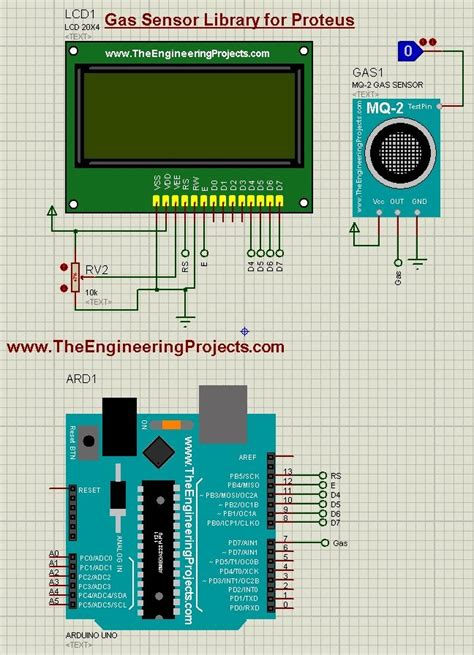 lpg gas leak detector using arduino the engineering projects