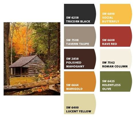 Log Cabin Colors by Log Cabin In The Woods Color Palettes