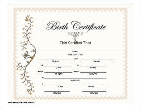 fake blank birth certificate template design helloalive