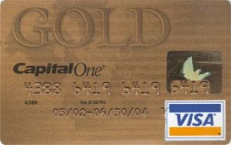 Capital One Visa Gift Card - bank card capital one visa gold capital one united states of america col us vi 0110
