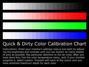monitor color calibration tool monitor calibration chart by kin on deviantart