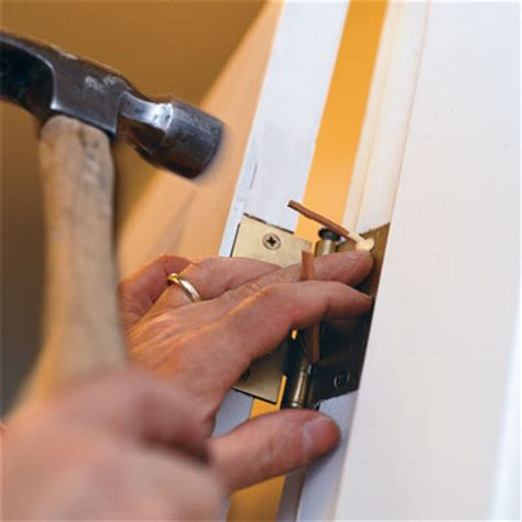 How To Repair Door Hinge by Check For A Hinge How To Fix A Door That Sticks