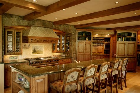 ranch home kitchen design storm mountain ranch house rustic kitchen denver