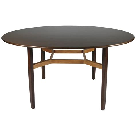 Birch Dining Table Walnut And Birch Dining Table By Lewis Butler For Knoll At 1stdibs