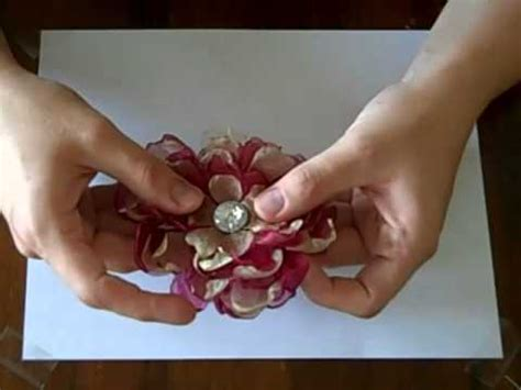 tutorial organza organza flower tutorial part 1 youtube