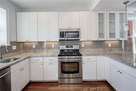 kitchen backsplash with white cabinets kitchen tile backsplash pictures white cabinets home