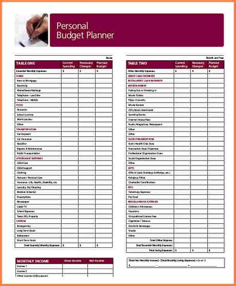 spreadsheet template capex free marketing budget tes personal