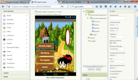 membuat aplikasi android dengan app inventor cara mudah membuat aplikasi android tanpa koding dengan