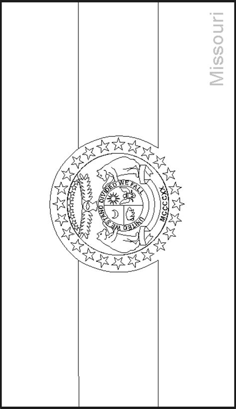 Missouri State Flag Coloring Pages Usa For Kids Missouri State Flag Coloring Page