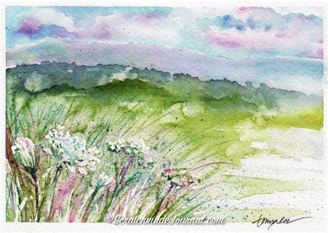 watercolor tutorial mountains watercolor tutorial salt painting scratchmade journal