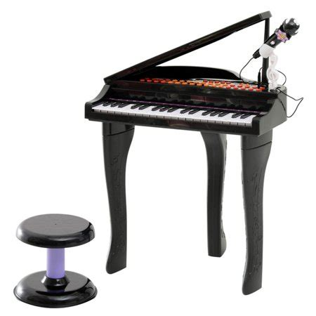 Toddler Piano With Stool by Qaba 37 Key Baby Grand Digital Piano With Microphone