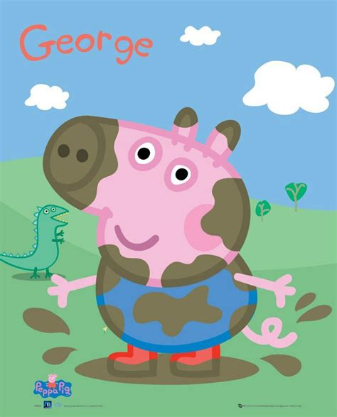rad worldwide 20 mini posters books peppa pig george mini poster 40cm x 50cm 796 40cm x