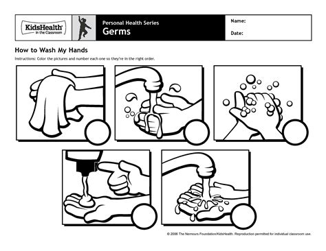 free handwashing steps coloring pages
