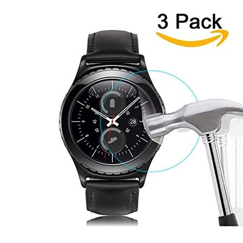 Tempered Glass Gear Sport New 3 pack samsung gear sport gear s2 screen protector import it all