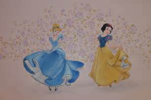 Snow White Wall Mural cinderella and snow white wall mural the characters can