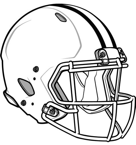Football Helmet Outline Profile by Football Helmet Coloring Page Coloring Pages Pictures Imagixs Sport