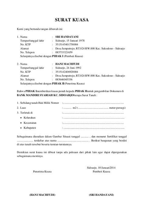 contoh surat kuasa untuk pembuatan visa downlllll