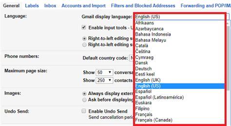 reset gmail to english how to change gmail display language