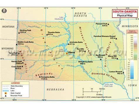 physical map of south dakota buy south dakota physical map