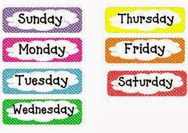 name of the days in week ل ك ل ه دف وسي لة وسائل تعليم اللغة الانجليزية