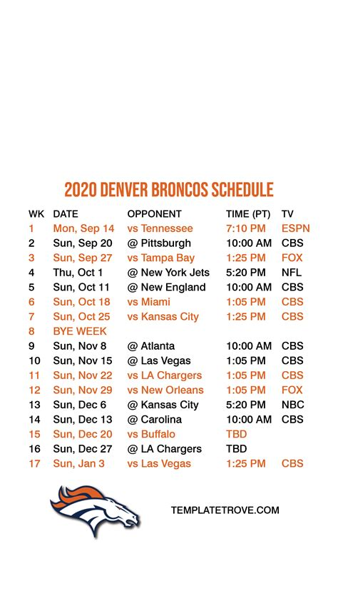 denver broncos lock screen schedule  iphone