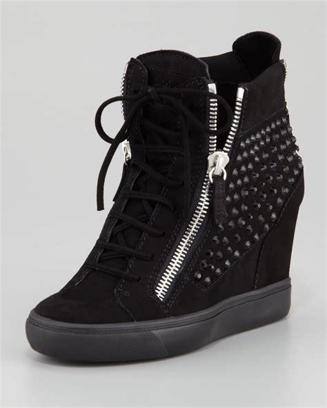 giuseppe zanotti sneaker wedge giuseppe zanotti rhinestone wedge sneaker black ijshoes
