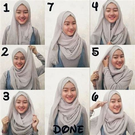 tutorial hijab simple tapi modern tutorial hijab pashmina terbaru dan simple